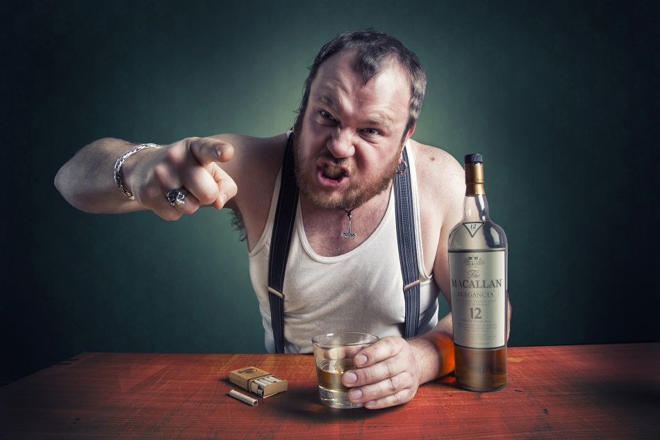 A piece of fine art art photography titled The Angry Drunk! by Geir Akselsen