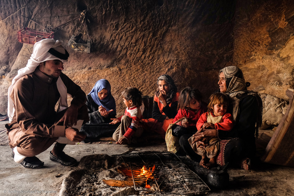 In Petra there 40/50 families still living in caves. They have adapted to life in the city and staye