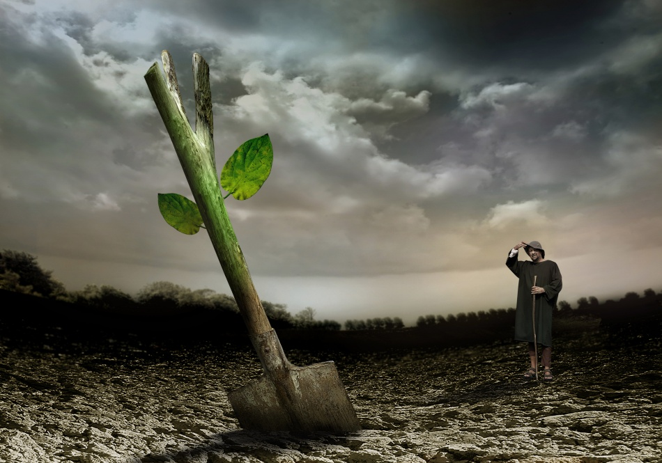 A piece of fine art art photography titled Soon It Will Be Spring ! by Ben Goossens