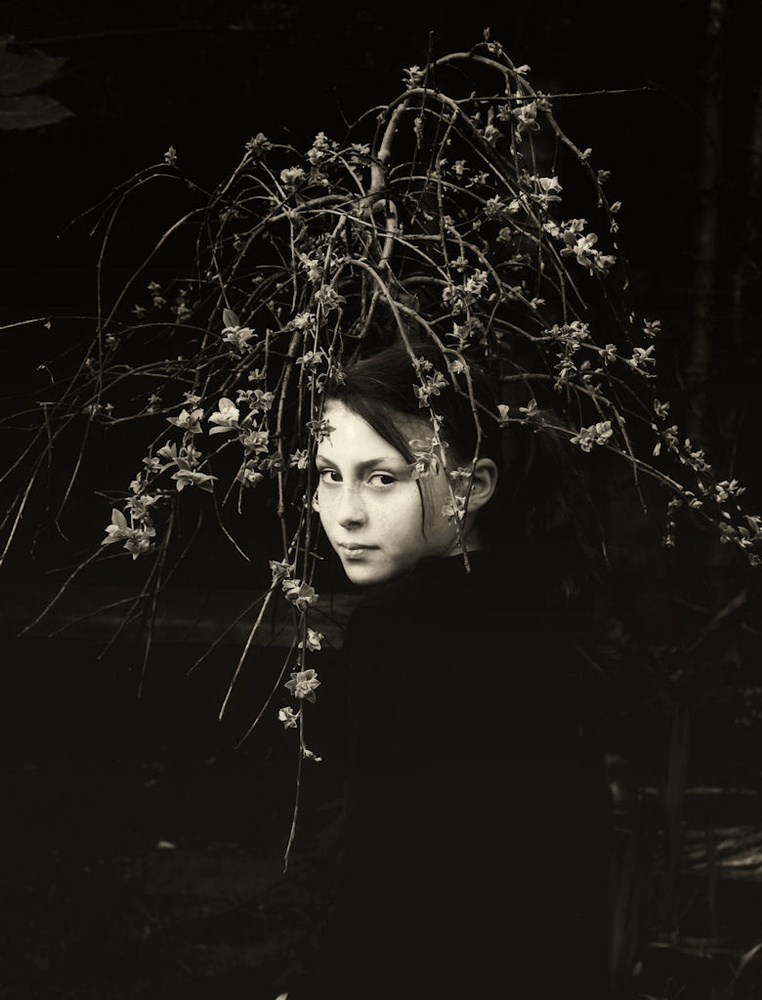 A piece of fine art art photography titled Hairdo Created by the Garden by Alicja O'Sullivan