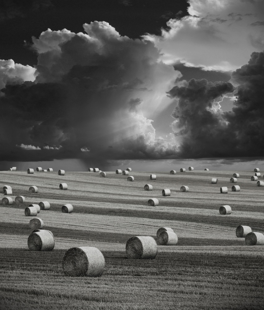 A piece of fine art art photography titled Stormy Harvest by antony zacharias