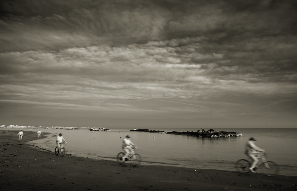 A piece of fine art art photography titled The Lone Rider by Giovanni Drogo