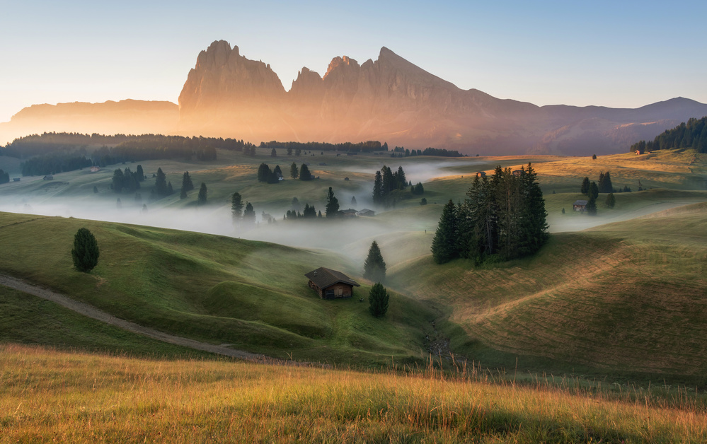 A piece of fine art art photography titled Alpe Di Siusi by Ales Krivec