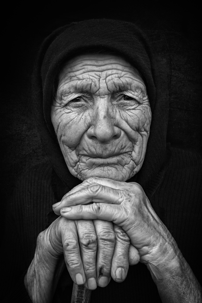 A piece of fine art art photography titled Old Woman 3 by Nidhal Alsalmi