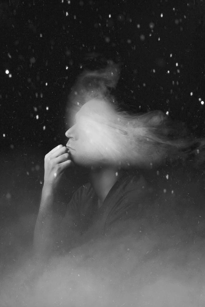 A piece of fine art art photography titled Faceless by Radin Badrnia