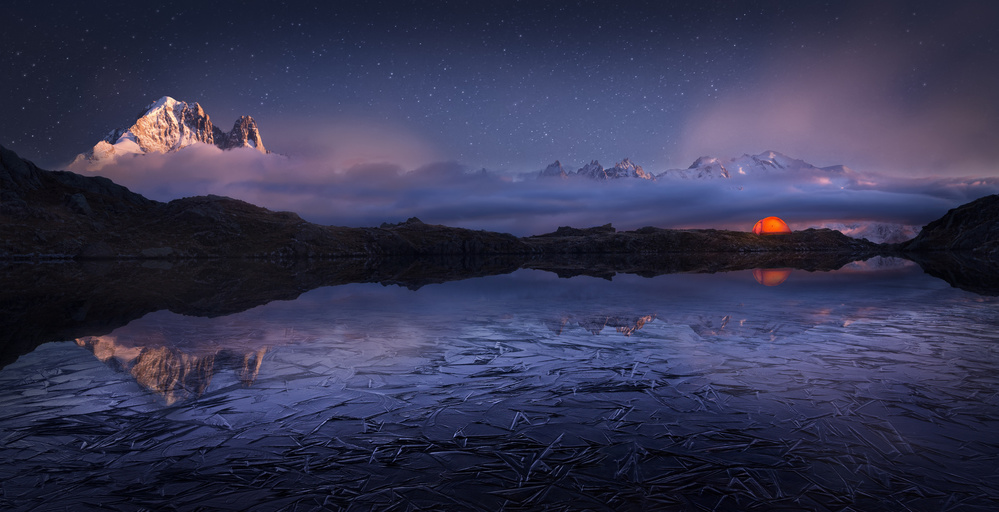 A piece of fine art art photography titled Lac Des Cheserys by Martin Dodrv