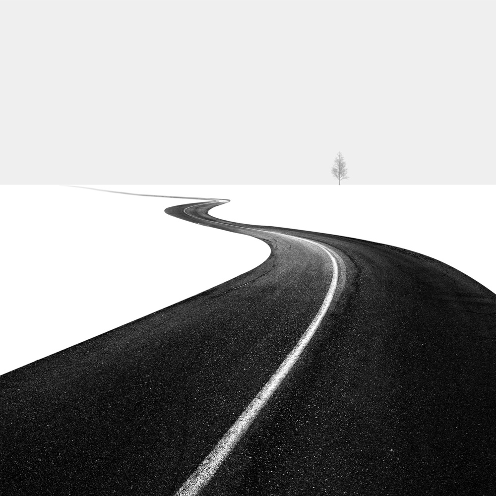 A piece of fine art art photography titled Road I by Hossein Zare