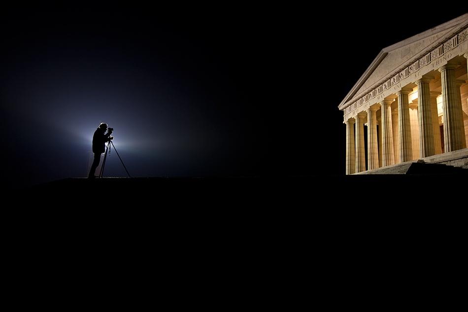 A piece of fine art art photography titled Canova's Temple by Carlo Sette