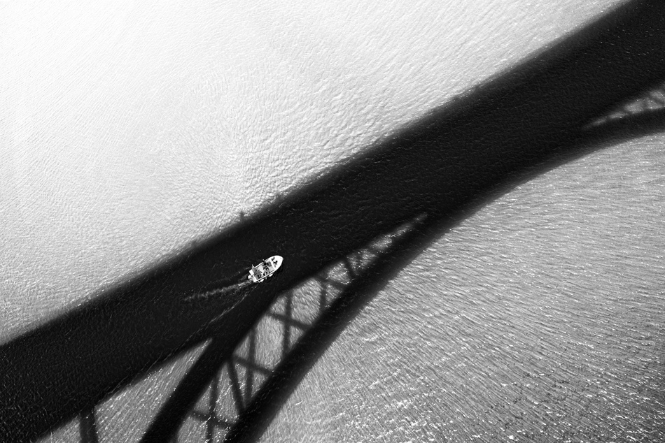 A piece of fine art art photography titled Over the Bridge by Matej Peljhan