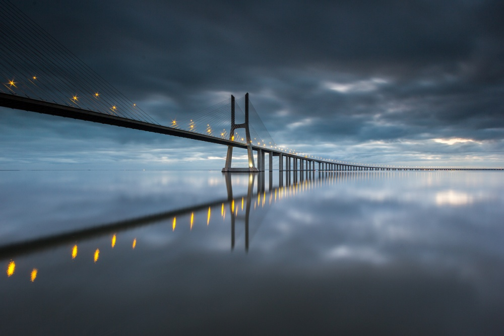 A piece of fine art art photography titled Bridge to the Future    by Jorge Canelas