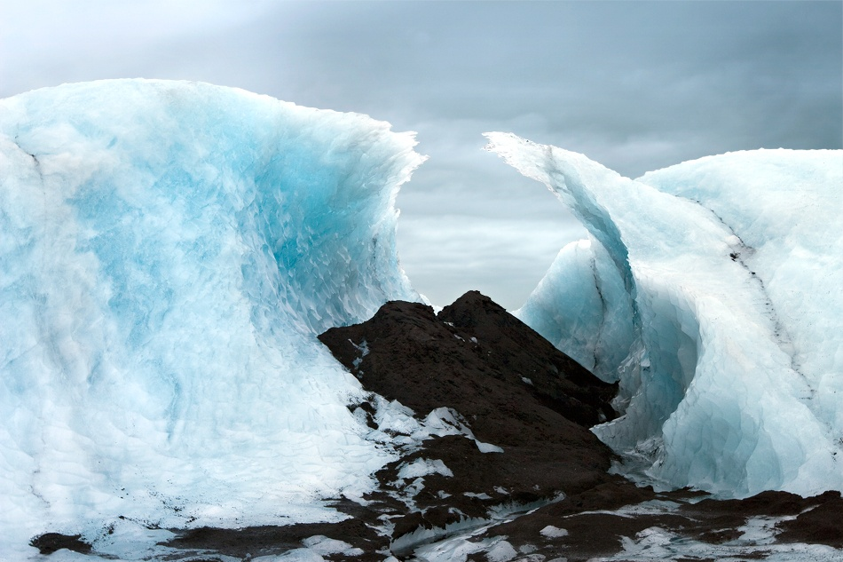 A piece of fine art art photography titled Eyjafjallajokull Glacier Formation by Axel Gimenez
