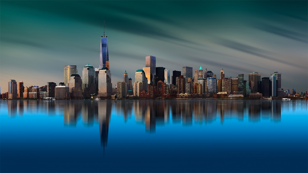 A piece of fine art art photography titled New York World Trade Center 1 by Yi Liang
