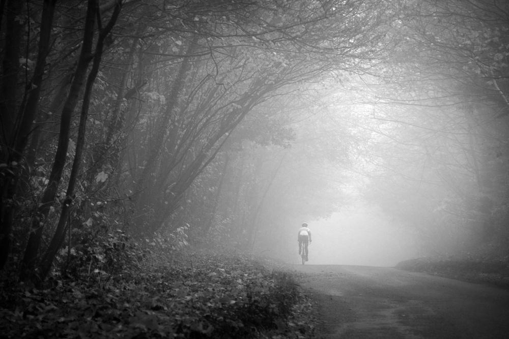 A piece of fine art art photography titled Autumn Mists by Peter Davidson