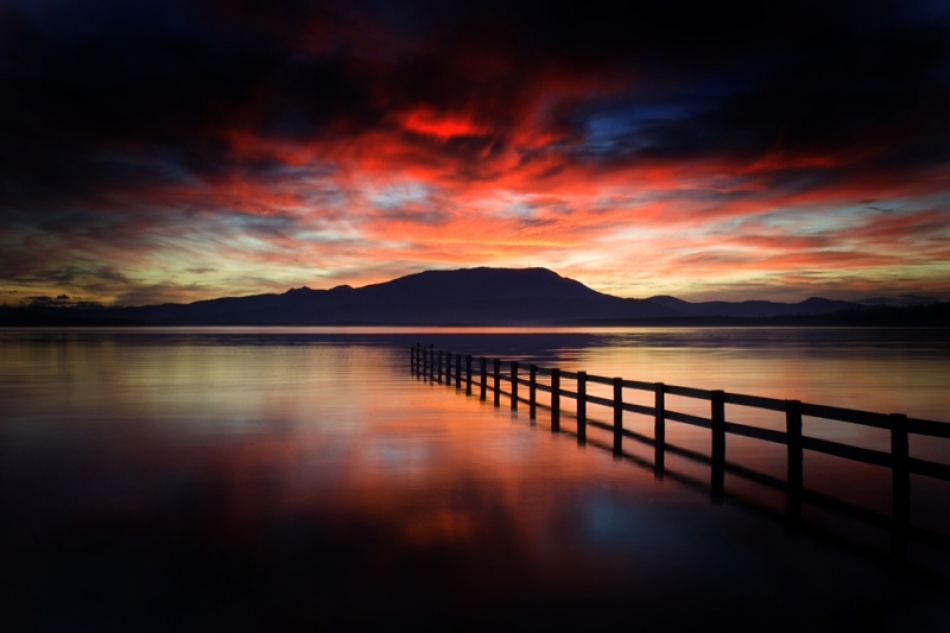 A piece of fine art art photography titled Red Saturday by Alex Wise