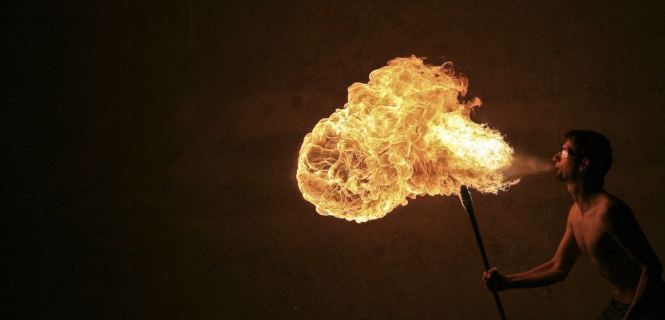 A piece of fine art art photography titled Fire Breathing Dragon by A. Dragon