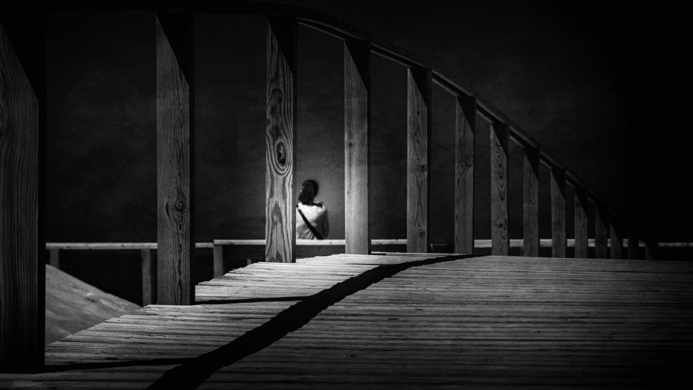 A piece of fine art art photography titled  House of Loneliness by Laura Mexia