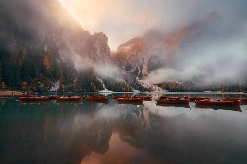 A piece of fine art art photography titled The Fog by Songquan Deng