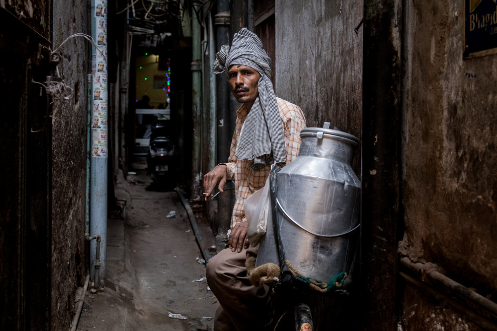 A piece of fine art art photography titled Old Delhi , India by O-i miyaki