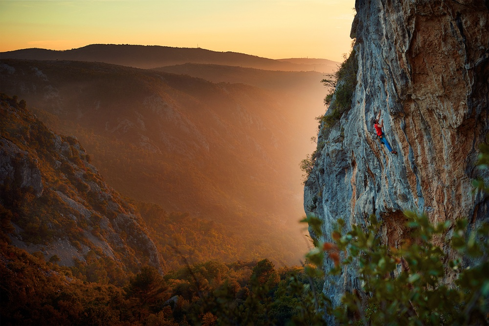 A piece of fine art art photography titled Climbing Sunset by Roberto Benvenuti