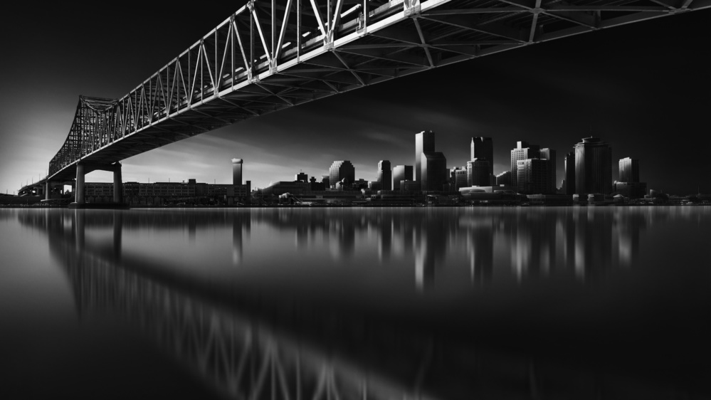 A piece of fine art art photography titled New Orleans Skyline by Fred Gramoso