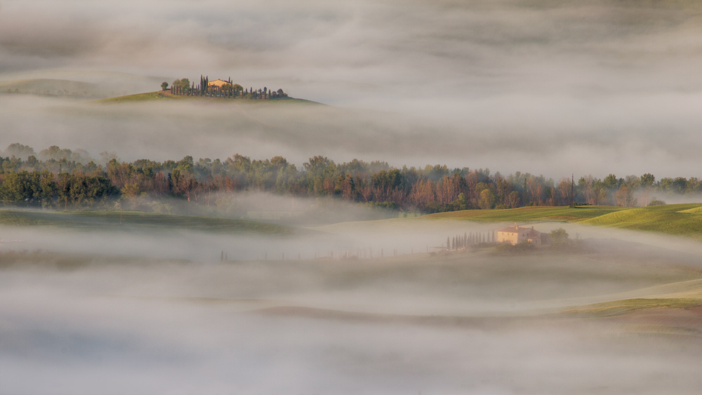 A piece of fine art art photography titled When Morning Breeze Uncovers a Hidden Land by Peter Svoboda, MQEP