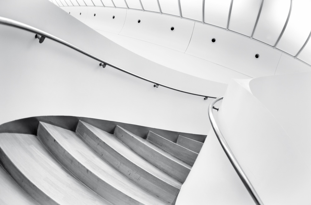 A piece of fine art art photography titled Swinging Staircase by Gerard Jonkman