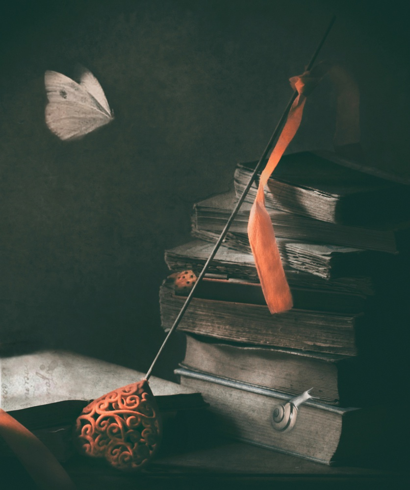 A piece of fine art art photography titled A Poetic Day by Delphine Devos