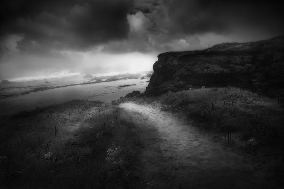 A piece of fine art art photography titled Chemin De Normandie by Pierre poulard