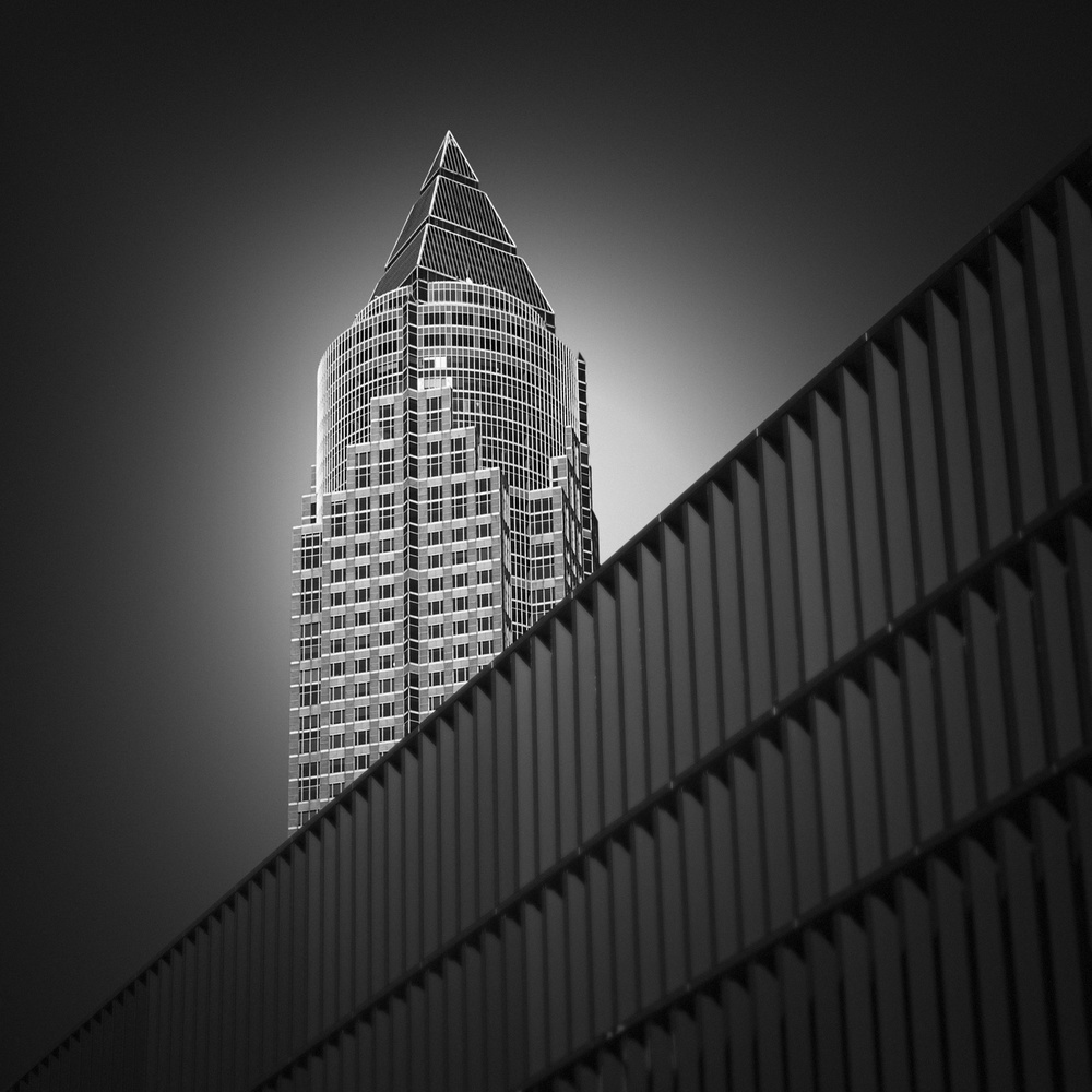 A piece of fine art art photography titled Trade Fair Tower by Andre Struik