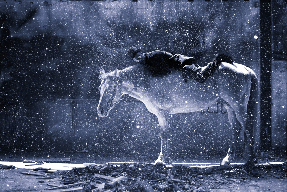 A piece of fine art art photography titled Rider by Yuri Shepelev
