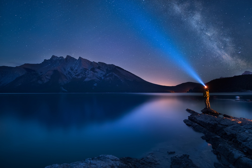 A piece of fine art art photography titled Along With the Milky Way by Victor Liu