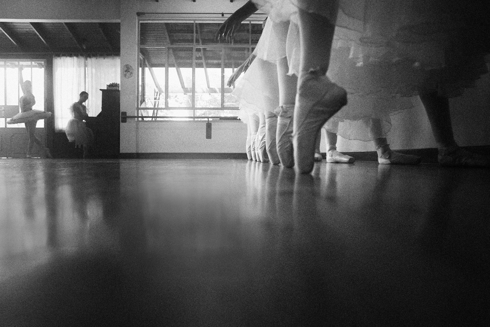 A piece of fine art art photography titled In Rehearsal Room by Osher Partovi