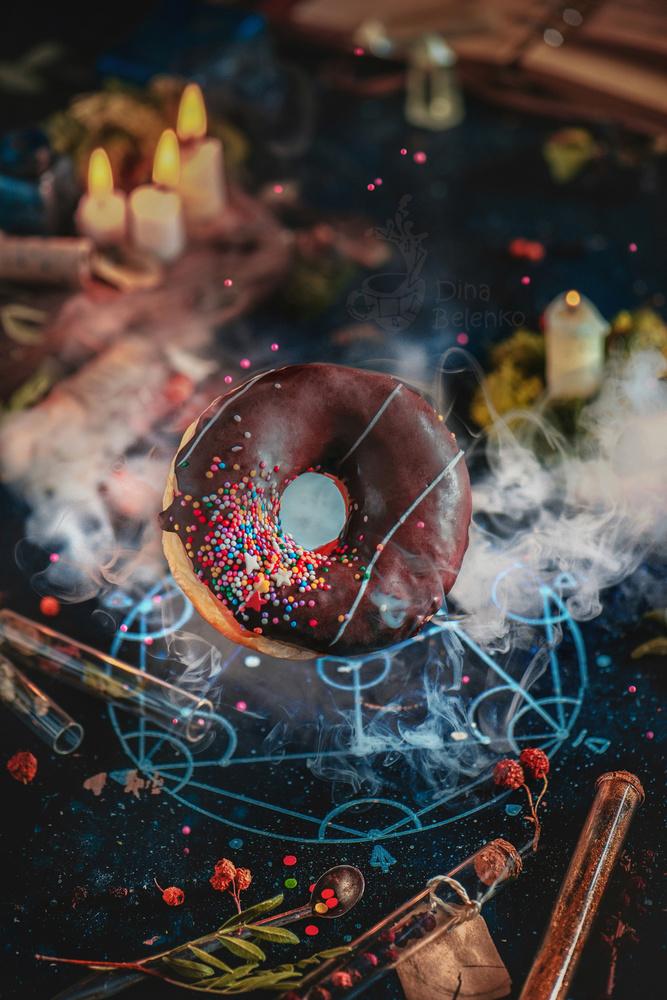 A piece of fine art art photography titled Alchemy Donut by Dina Belenko