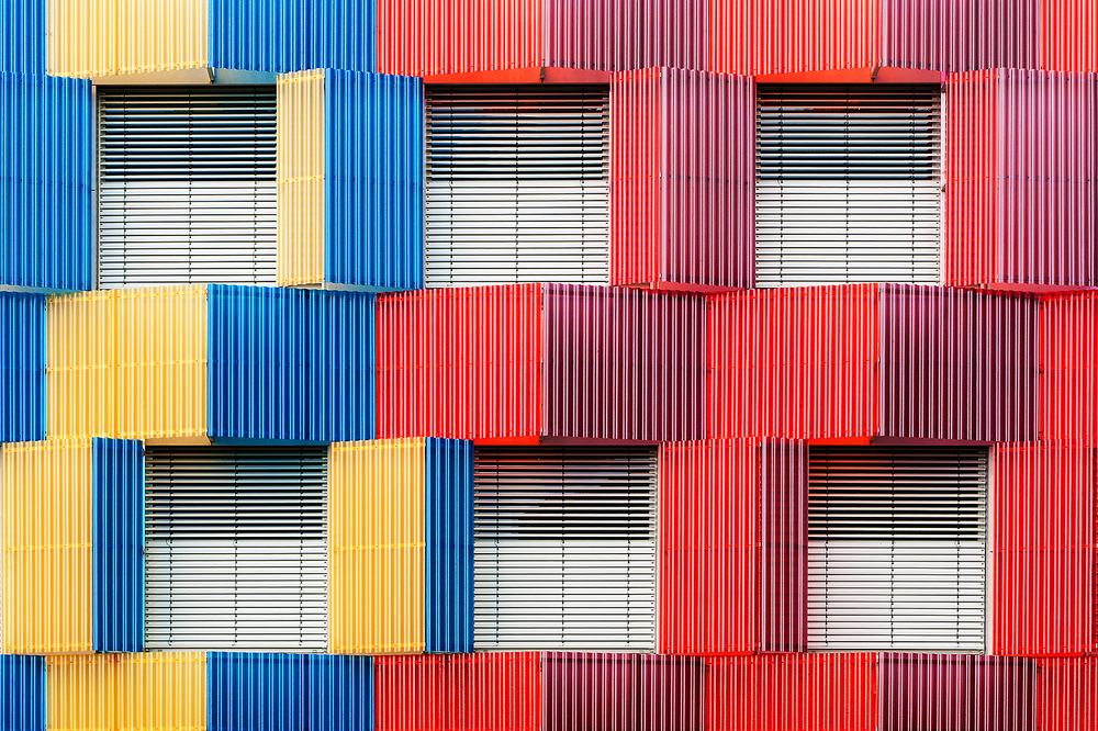 A piece of fine art art photography titled Colourful Façade by Georges Forster
