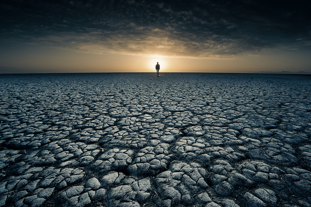 A piece of fine art art photography titled The Desolation of Ancient Times by Bingo Z