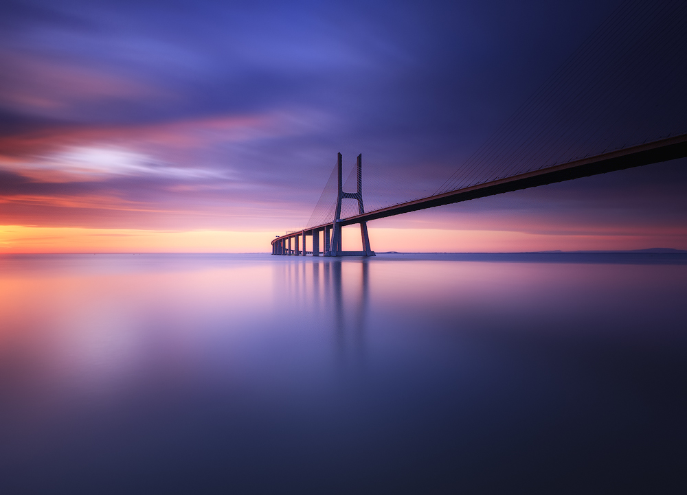 A piece of fine art art photography titled Colorfull Bridge by Hugo Marques
