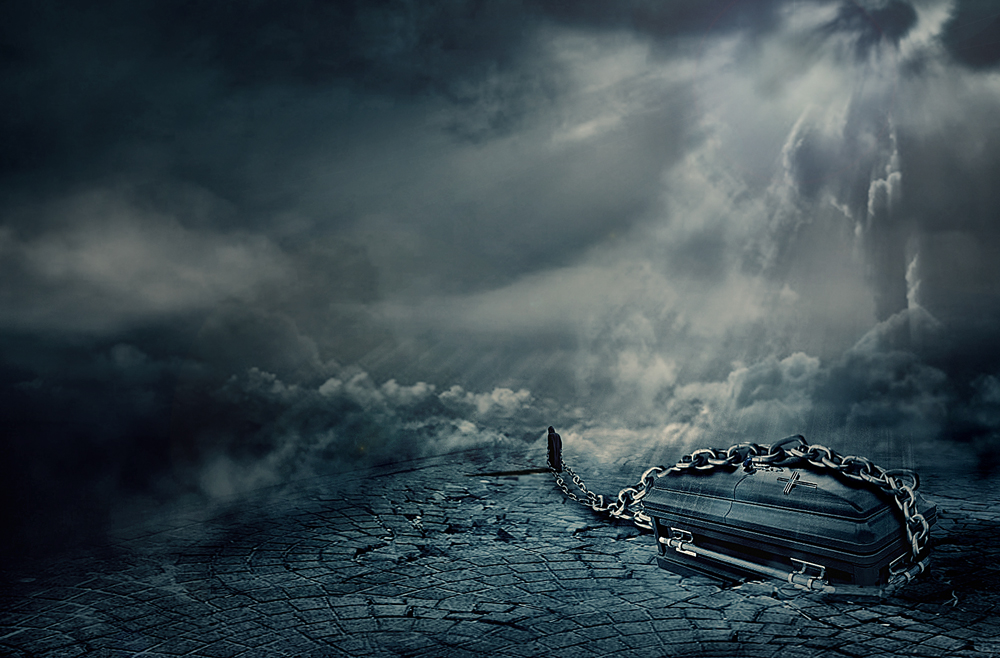 A piece of fine art art photography titled When Death Comes by hafizh photos