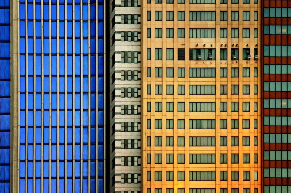 A piece of fine art art photography titled Windows On the City by Mathilde Guillemot