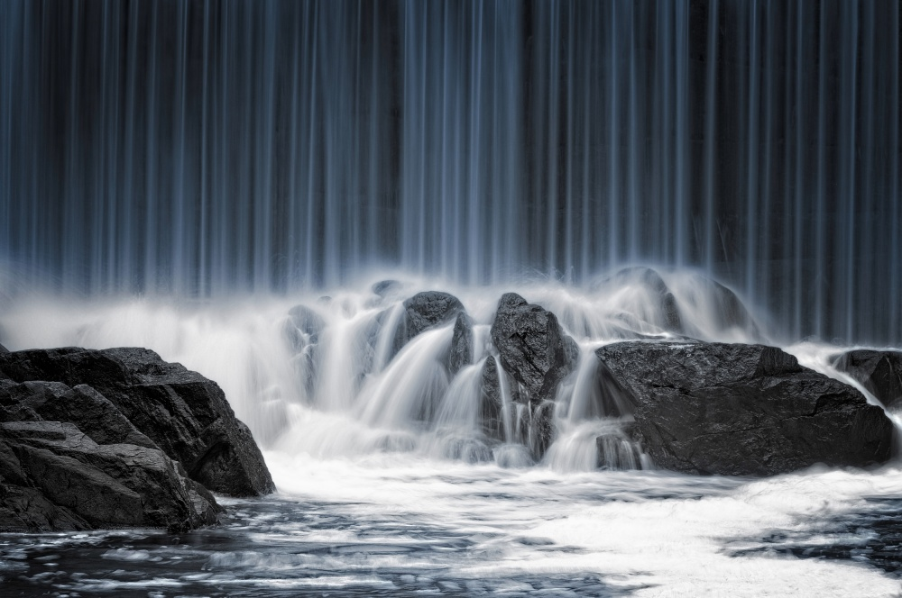 A piece of fine art art photography titled The Blue Curtain by Keijo Savolainen