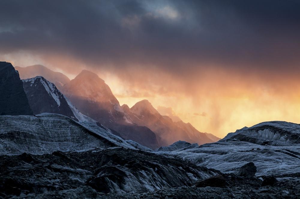 A piece of fine art art photography titled South Inylchek Glacier by Björn Billing