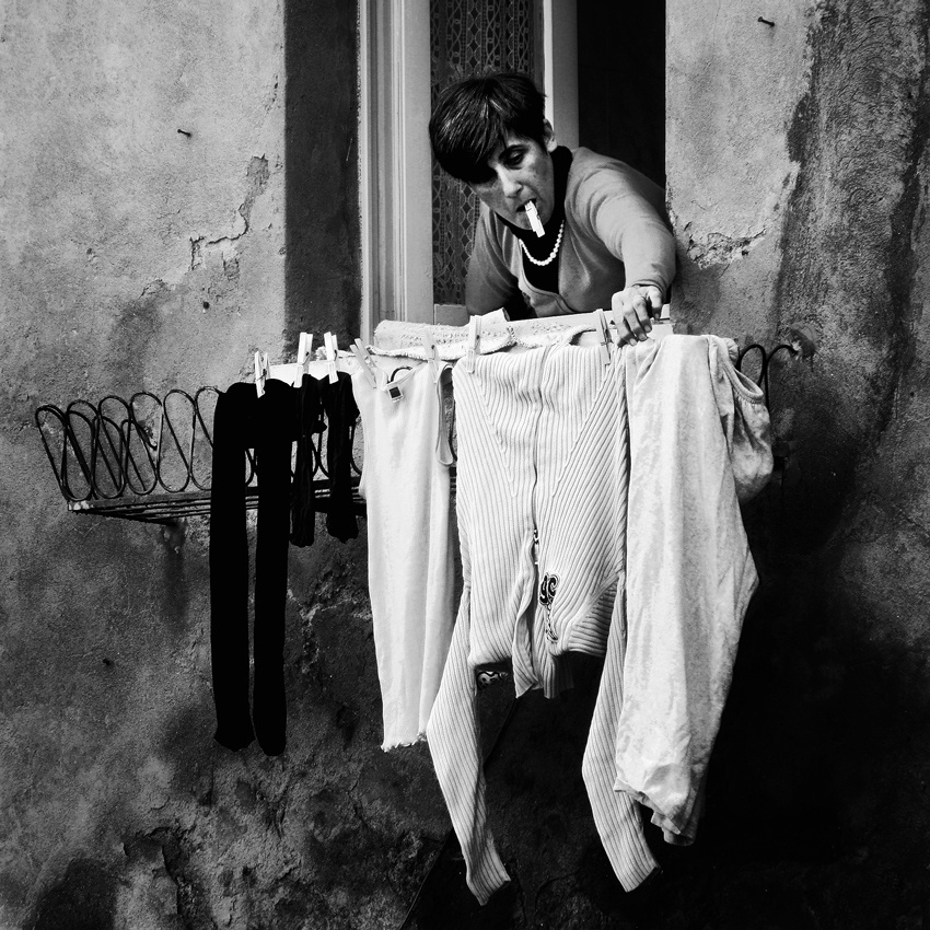 A piece of fine art art photography titled Washing Day by Angéla Vicedomini