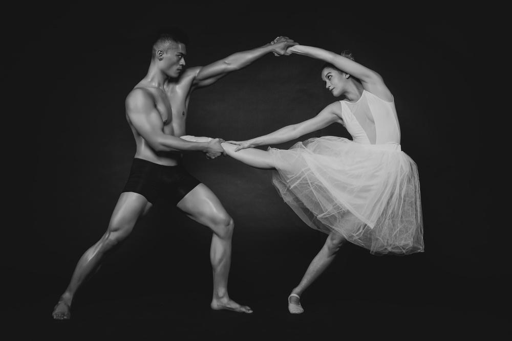 A piece of fine art art photography titled Dance Duet (1) by James Yang
