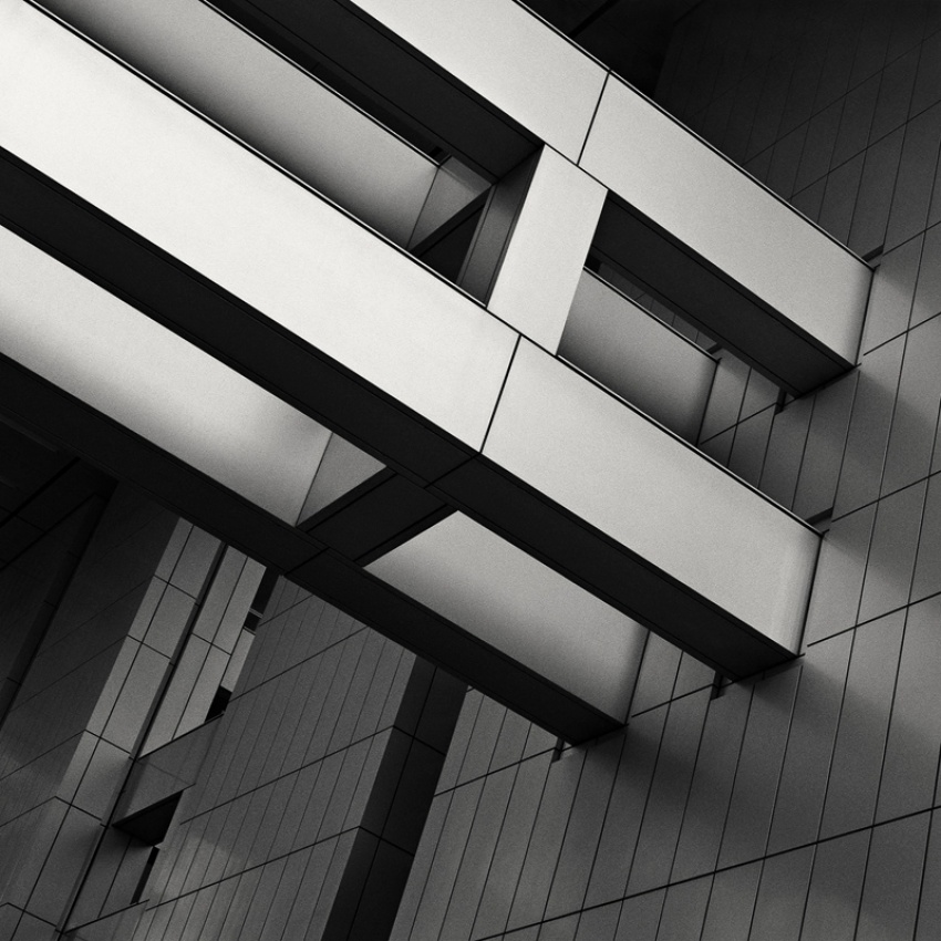 A piece of fine art art photography titled Fuji Television Headquarters by Tyler Coen