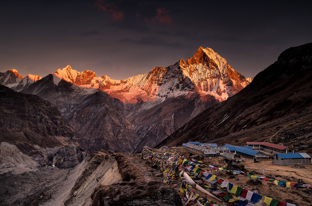 A piece of fine art art photography titled Annapurna Base Camp by Richard Le Manz