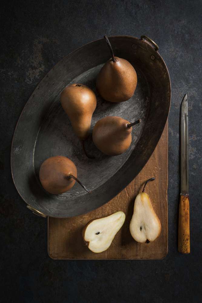 A piece of fine art art photography titled Pears by Diana Popescu