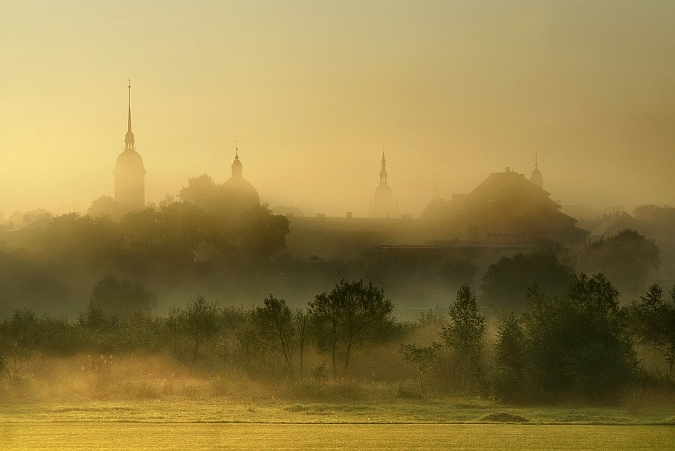 A piece of fine art art photography titled 	 Morning In My Hometown by Janusz Wanczyk