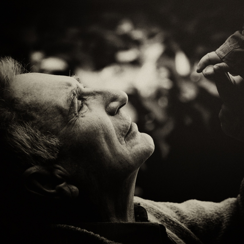 A piece of fine art art photography titled Sense of Touch by Ivan Radic