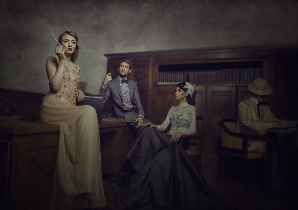 A piece of fine art art photography titled What Do You Think by Yamani Ahmad