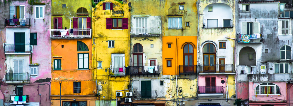 A piece of fine art art photography titled Patchwork - Procida by Jean-Luc BESSON