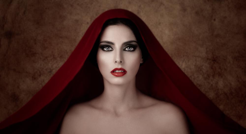 A piece of fine art art photography titled Red Veil!!! by Alfredo Sanchez